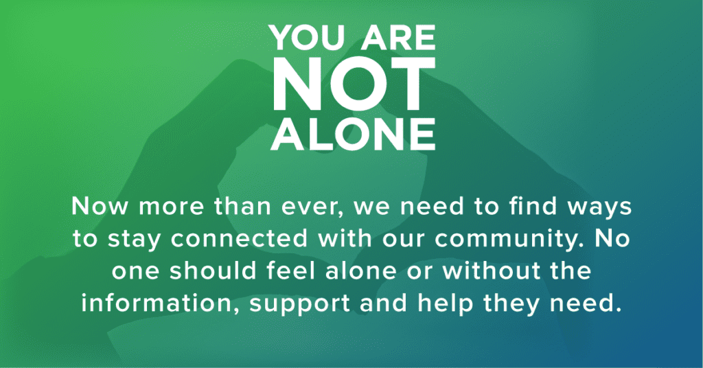 You Are Not Alone Mental Health Awareness Month